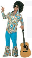 70's Male Velvet Hippy Costume
